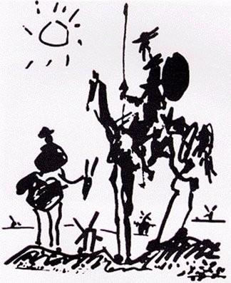 PabloPicasso-Don-Quixote-1955
